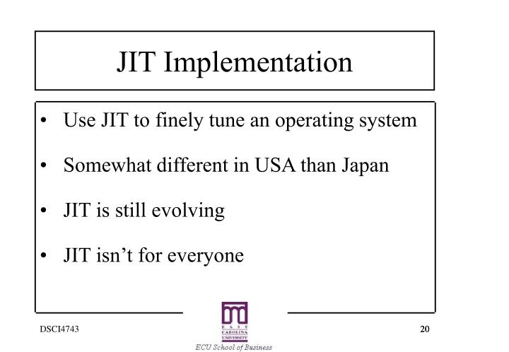 Use JIT to finely tune an operating system