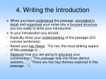 4 writing the introduction