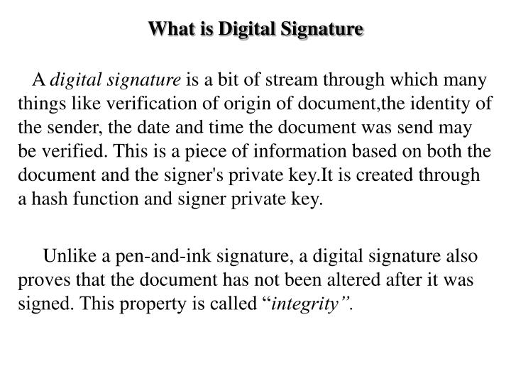 what is digital signature n.