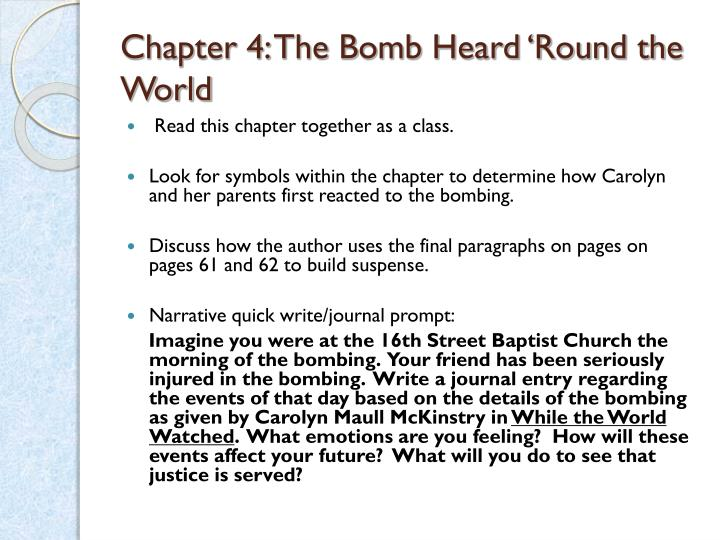 Chapter 4: The Bomb Heard 'Round the World