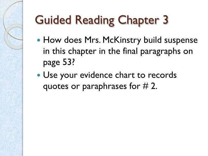 Guided Reading Chapter 3