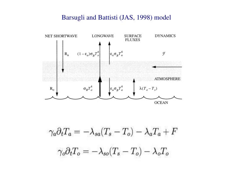 Barsugli and Battisti (JAS, 1998) model