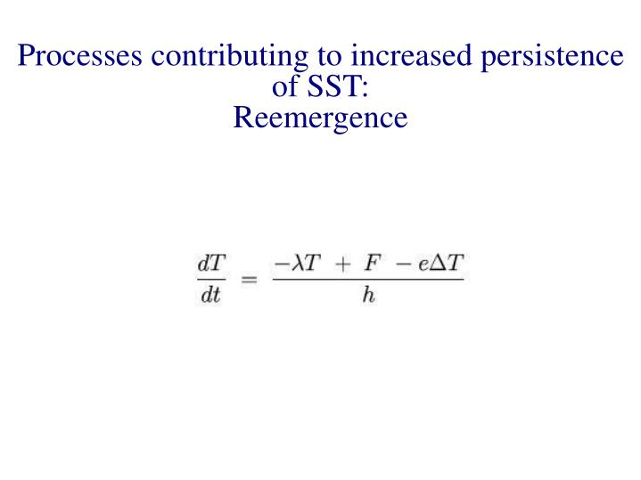 Processes contributing to increased persistence