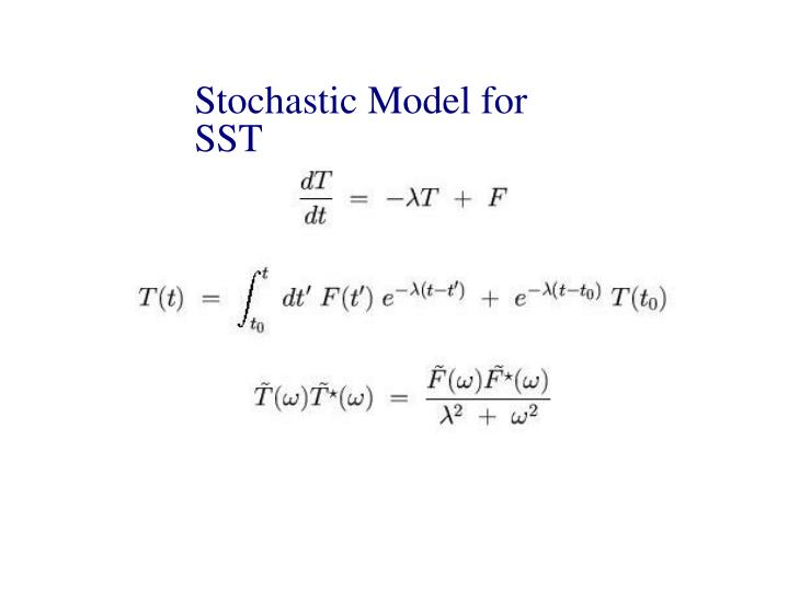 Stochastic Model for SST