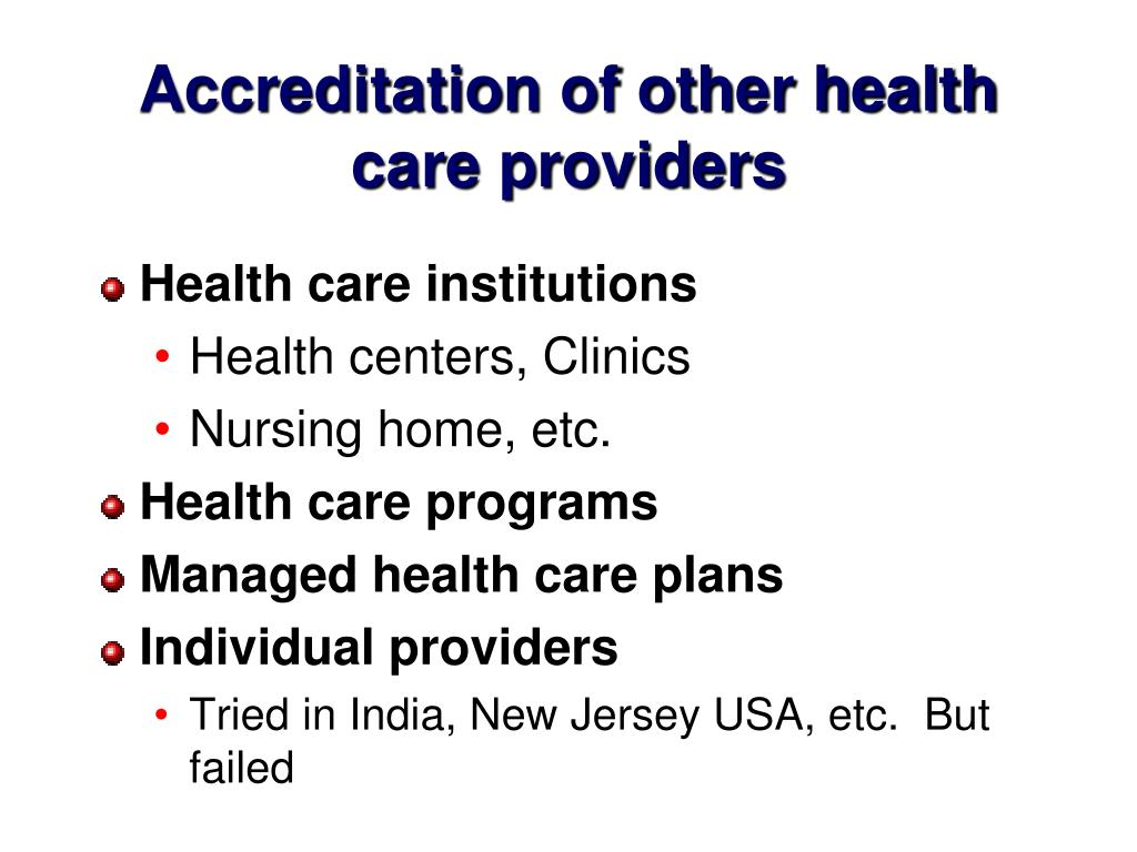 PPT - Quality Assurance and Hospital Accreditation