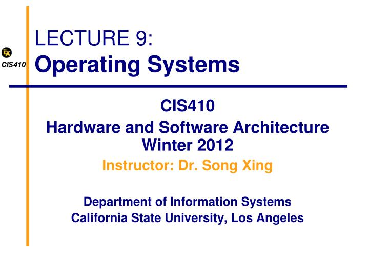 lecture 9 operating systems n.
