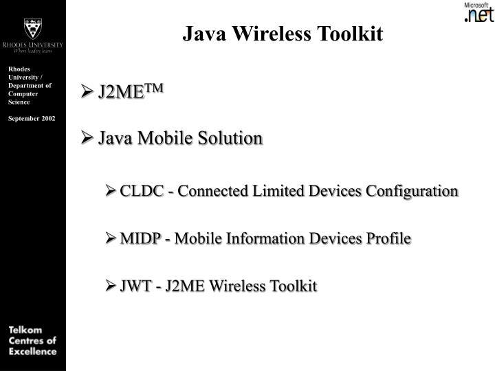Java Wireless Toolkit