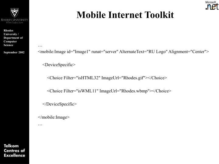Mobile Internet Toolkit