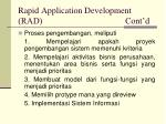rapid application development rad cont d