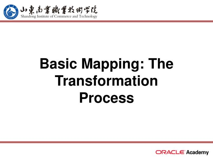 Basic mapping the transformation process