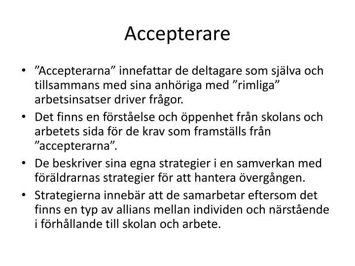 Accepterare