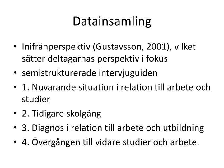 Datainsamling