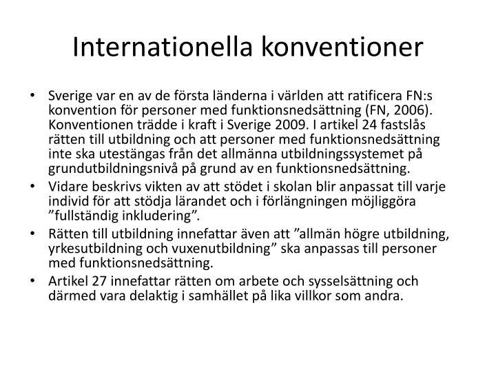 Internationella konventioner