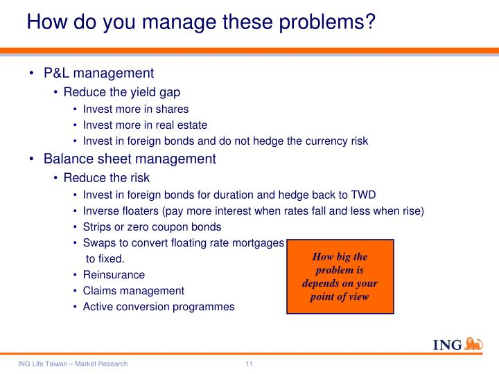 How do you manage these problems?