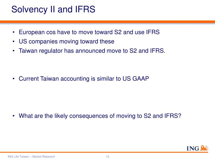Solvency II and IFRS