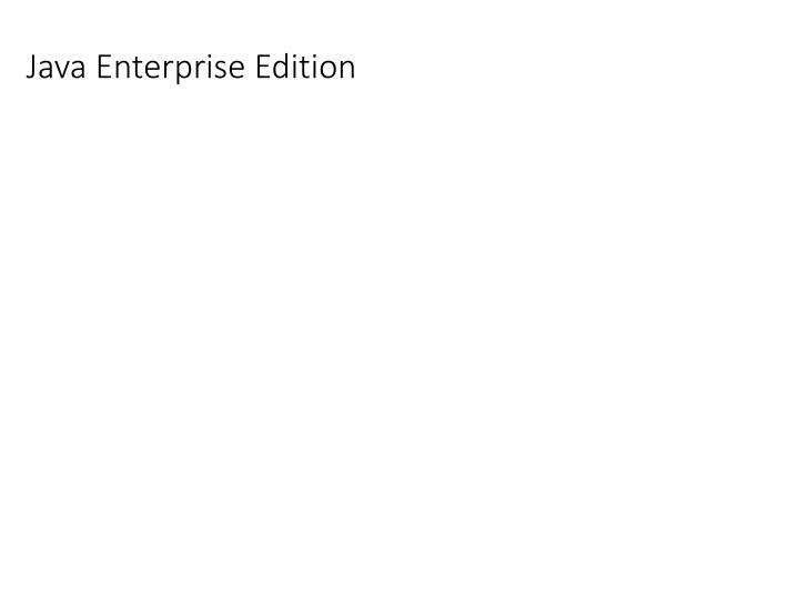 java enterprise edition n.