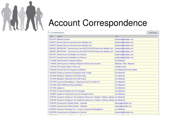 Account Correspondence