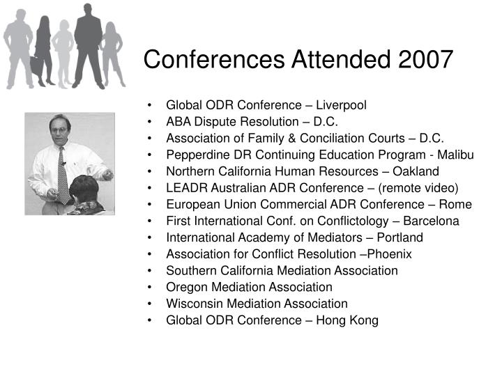 Conferences Attended 2007