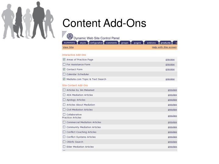 Content Add-Ons