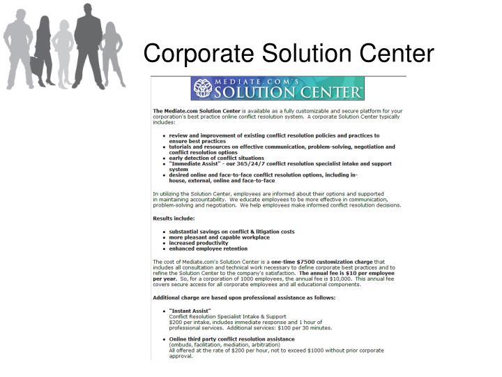 Corporate Solution Center