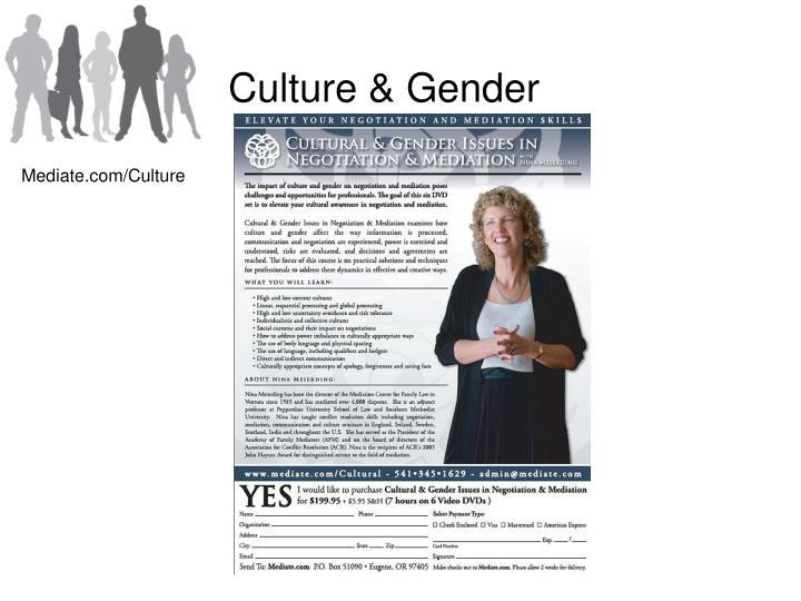 Culture & Gender
