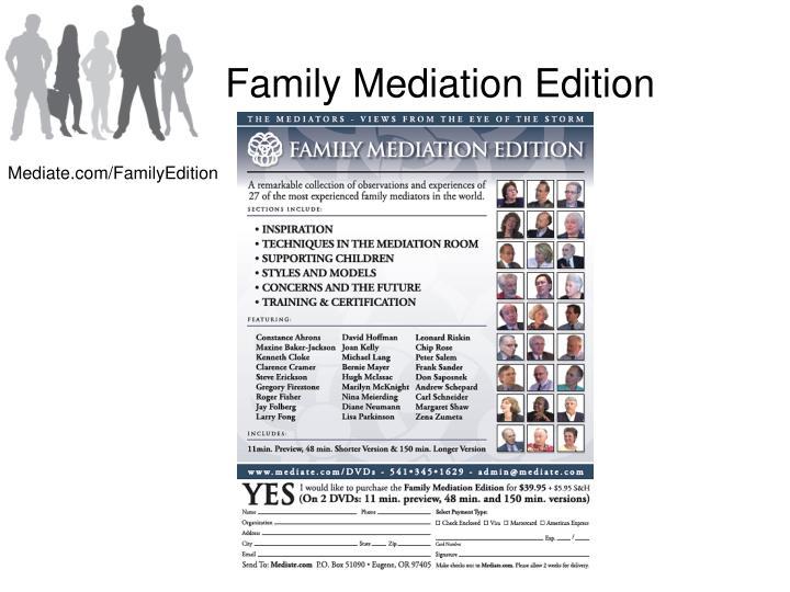 Family Mediation Edition