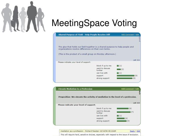 MeetingSpace Voting