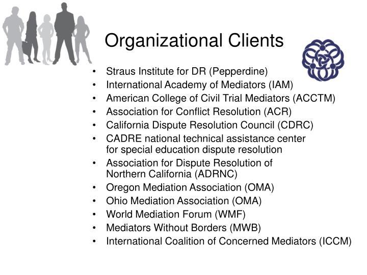 Organizational Clients