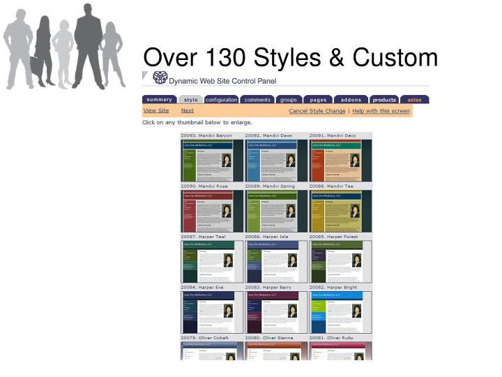 Over 130 Styles & Custom