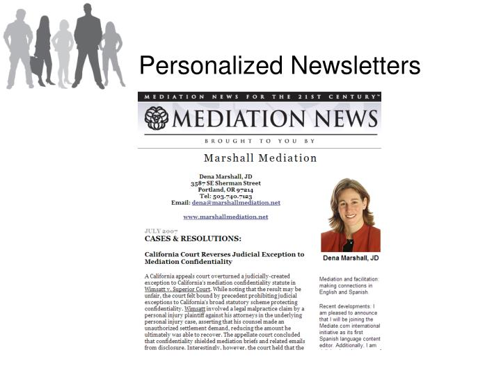 Personalized Newsletters