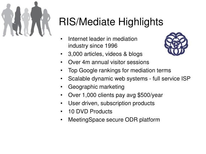 RIS/Mediate Highlights