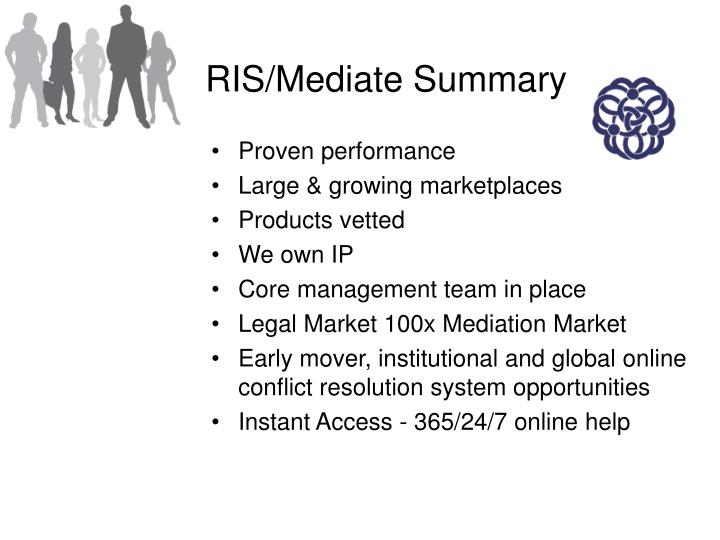 RIS/Mediate Summary