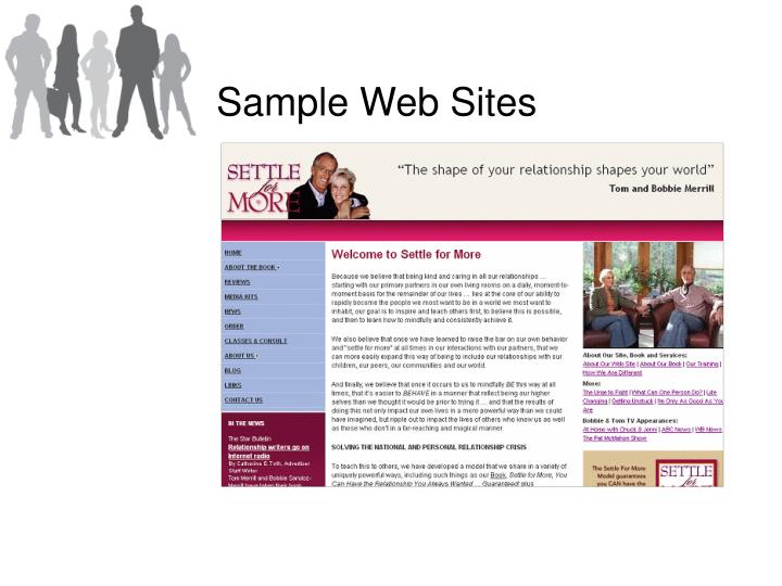 Sample Web Sites
