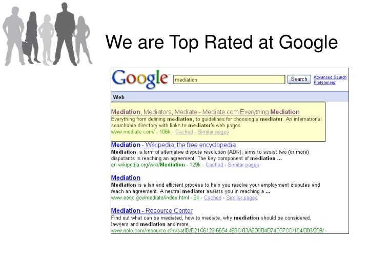 We are Top Rated at Google