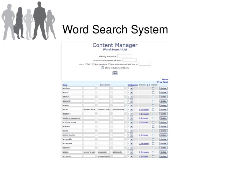 Word Search System