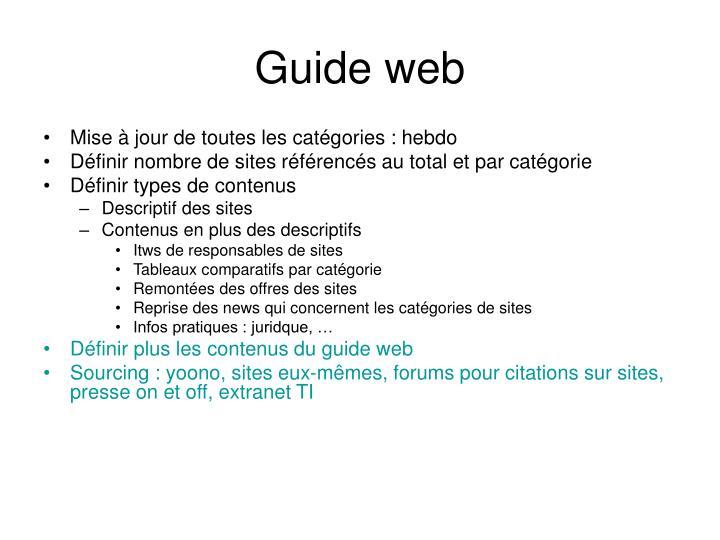 Guide web