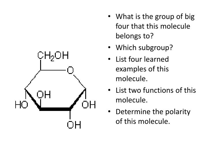 What is the group of big four that this molecule belongs to?