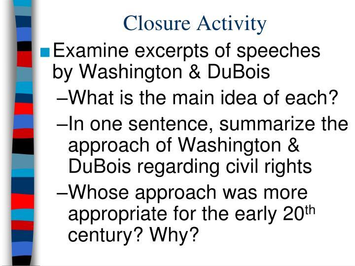 Closure Activity