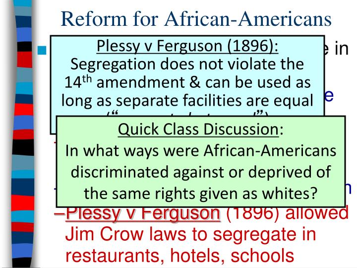Reform for African-Americans