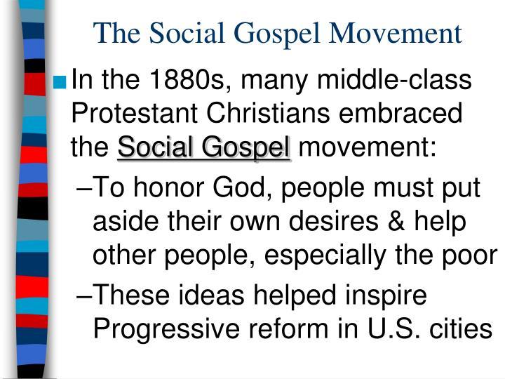 The social gospel movement