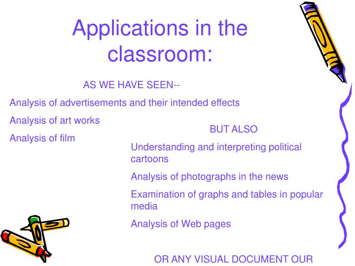 Applications in the classroom: