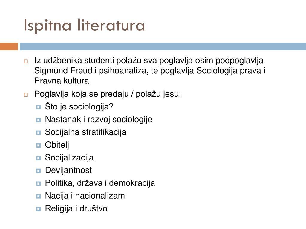 izlaskom iz sociologije