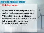 more on nuclear waste