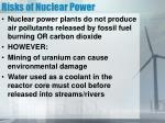 risks of nuclear power