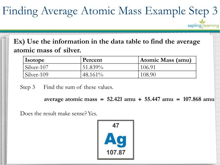 Finding Average Atomic
