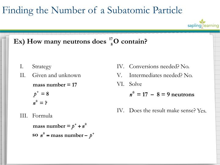 Finding the Number of a Subatomic Particle