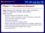 phase 1 foundational research