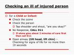 checking an ill of injured person1