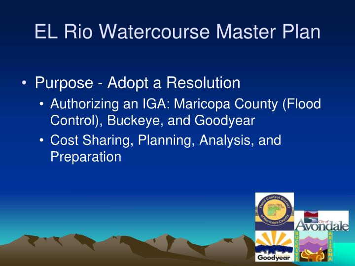 El rio watercourse master plan1