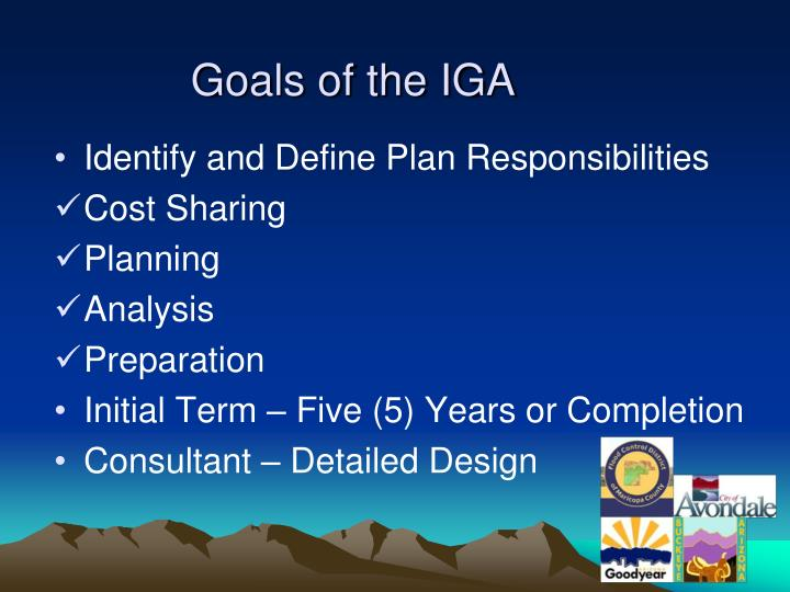 Goals of the IGA